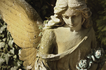 Guardian Angel (antique statue, religion, symbol of security)