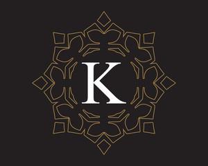 K  Monogram Vintage Classic Letter Logo for Luxury  Business