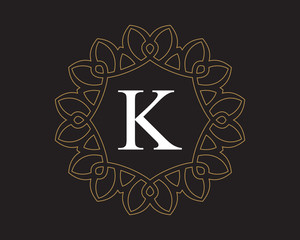 K  Monogram Vintage Classic Letter Logo for Luxury  Business