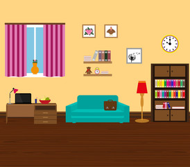 Interior modern and stylish room