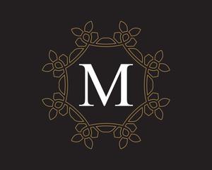 M Monogram Vintage Classic Letter Logo for Luxury  Business