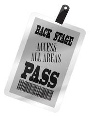 Backstage Pass Plastic