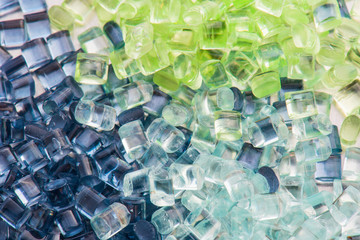 transparent plastic resin