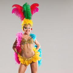 Photo sur Aluminium Carnaval Samba dancer
