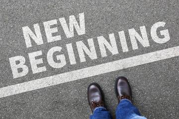 New beginning beginnings old life future past goals success deci
