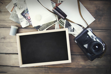 photo frames and  old camera