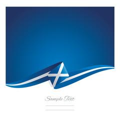 New abstract Scotland flag ribbon