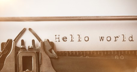 Composite image of the word hello