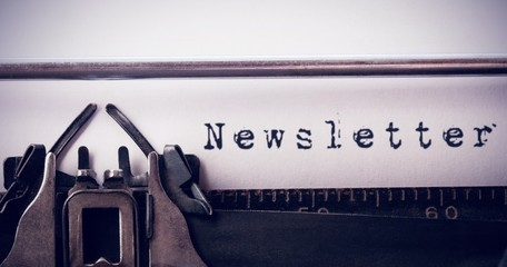 Composite image of the word newsletter against white background