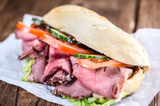 Roast Beef Sandwich (close-up shot)