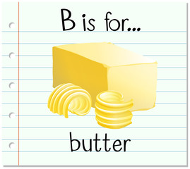 Alphabet b is for butter