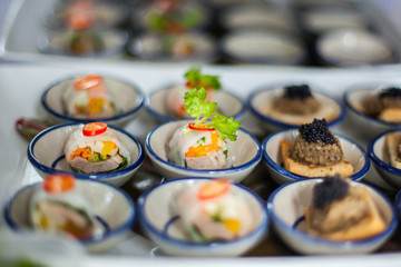 canape with fresh spring rolls.