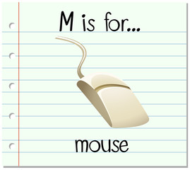 Alphabet  M is for mouse