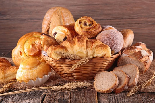 assorted pastry and bread