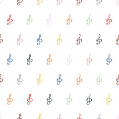 Seamless background pattern in the treble clef