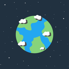 Earth cartoon icon