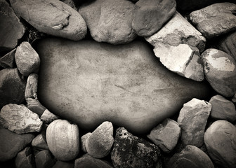 stone wall with hole background