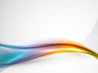 Fotobehang Fractal waves Rainbow color glossy silk elegant wave