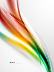 Rainbow color glossy silk elegant wave
