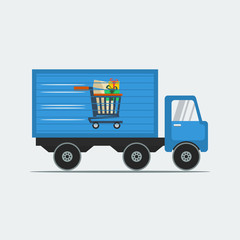 Shipping Truck for Online Shop