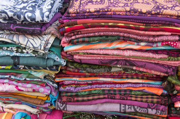 Fabric - pile - color - decoro - handmade