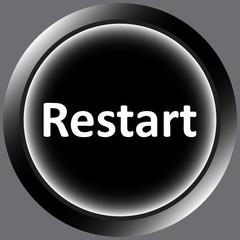 Icon black word restart