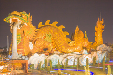Chinese Dragon at Supanburi in Thailand