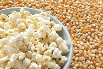cropped image of popcorn in bowl