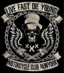 Vintage motorcycle. Hand drawn grunge vintage illustration with