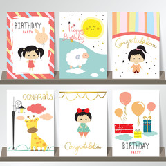 Light pink blue yellow collection for banners, Flyers, Placards