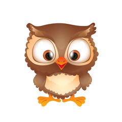Cute Funny Brown Owl