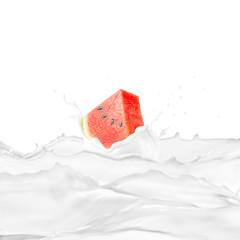 Watermelon With Milk Splash