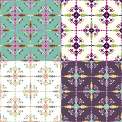 Ethnic seamless pattern. Aztec geometric background.