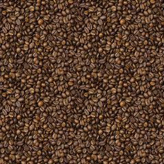 seamless texture with grains of roasted coffee