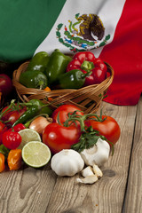 mexican vegetables set
