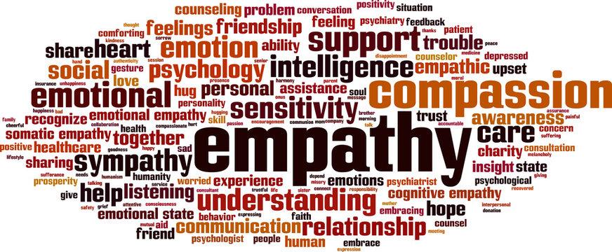 Empathy word cloud concept. Vector illustration