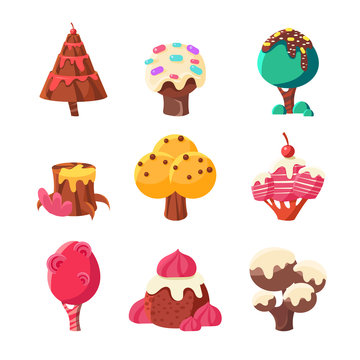Trees Made Of Sweets Set