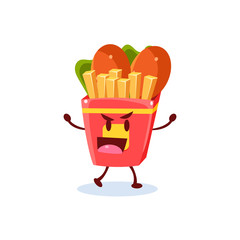 Junk Food Cartoon Character