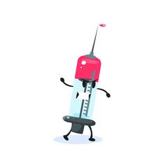 Syringe Cartoon Character
