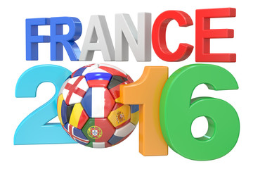 Football France 2016 concept, 3D rendering