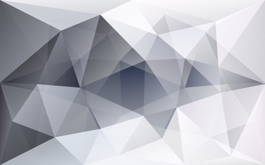 White and grey polygonal geometric background, semi-transparent