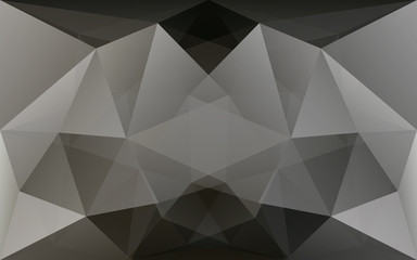 Dark grey and black polygonal geometric background, symmetrical