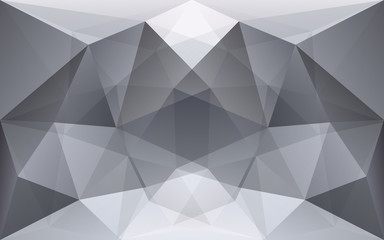 White and dark grey polygonal geometric background, symmetry tex