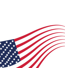 USA Flag Independence day vector template