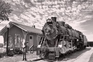 Fond de hotte en verre imprimé Bestsellers Old Railroad Steam Engine.