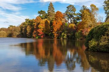Sheffield Park Gardens in autumn