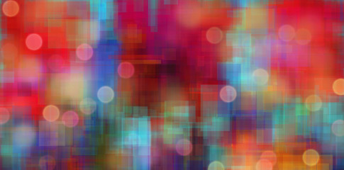 Colorful abstract painting with bokeh