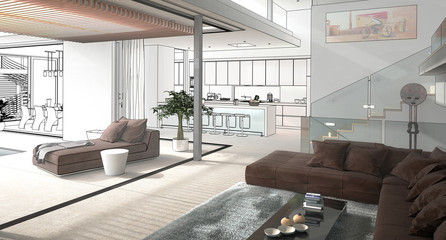 Modern House Interior (hi-res project)