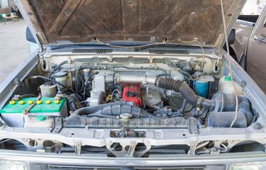 Car diesel engine.