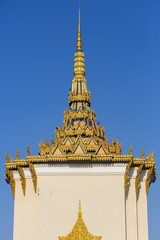 Roof of temple in the Royal Palace, Phnom Penh. Khmer architectu
